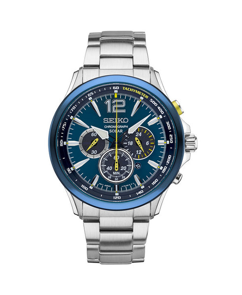 Seiko Solar Chronograph Special Edition Stainless Steel Watch SSC505