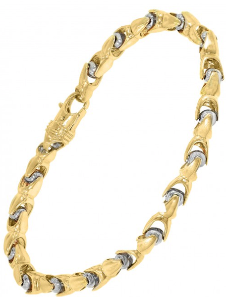 10k Yellow Gold Bullet Bracelet