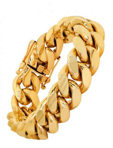 10k Yellow Gold Miami Cuban Bracelet (Available in 14k)