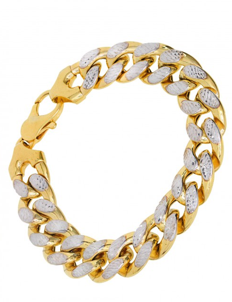 10k Yellow Gold Diamond Cut Miami Cuban Bracelet