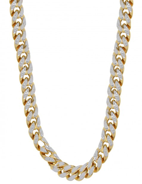 10k Yellow Gold Diamond Cut Miami Cuban Chain