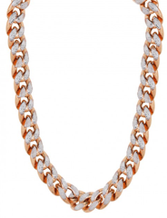 10k Rose Gold Diamond Cut Miami Cuban Chain