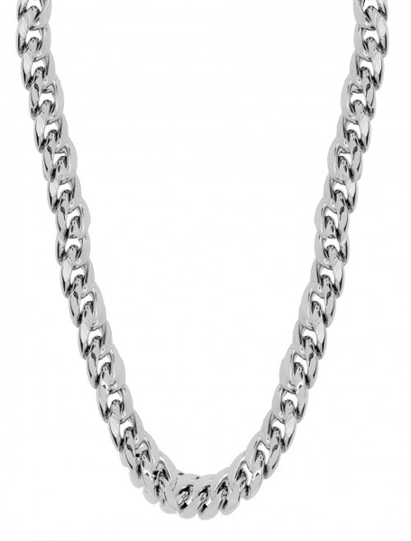 10k White Gold Cuban Miami Chain