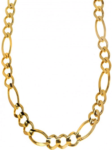 10k Yellow Gold Figaro Chain
