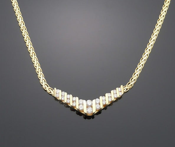 14k White Gold 1ct Diamond Necklace