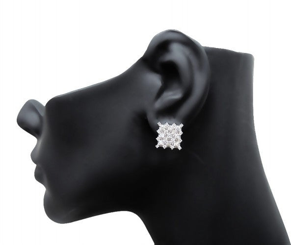 14K White Gold 2ct Diamond Earrings