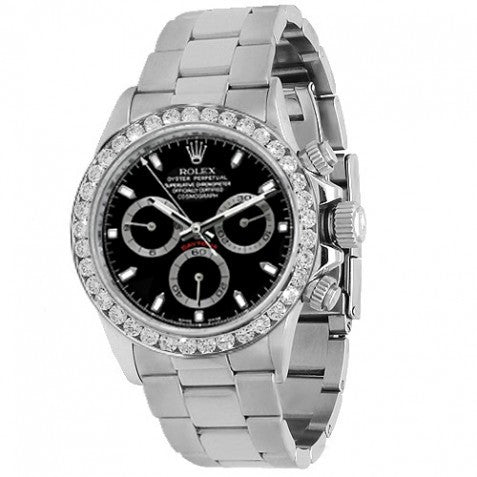 Rolex Daytona Mens Diamond Watch 4.00 Ctw