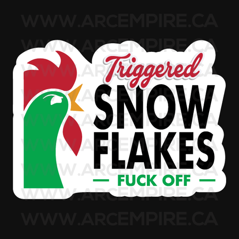 Triggered Snow Flakes - Fuck off