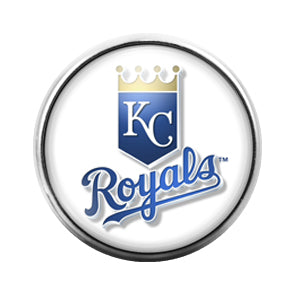 KC Royals - 18MM Glass Dome Candy Snap Charm GD0422