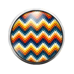 Pattern - 18MM Glass Dome Candy Snap Charm GD0543