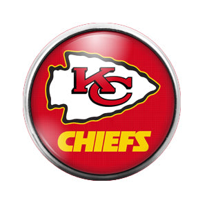 Kansas City Chiefs - 18MM Glass Dome Candy Snap Charm GD0419