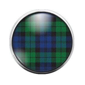 Plaid Pattern - 18MM Glass Dome Candy Snap Charm GD0534