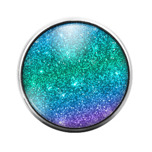 Glitter Pattern - 18MM Glass Dome Candy Snap Charm GD1493