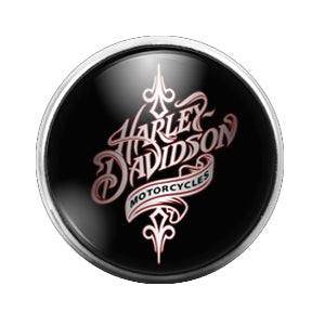 Harley Davidson - 18MM Glass Dome Candy Snap Charm GD0454