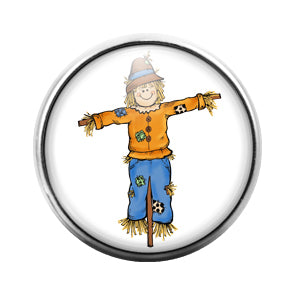Scarecrow- 18MM Glass Dome Candy Snap Charm GD1360