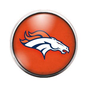 Detroit Broncos - 18MM Glass Dome Candy Snap Charm GD0413