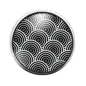 Pattern - 18MM Glass Dome Candy Snap Charm GD0544