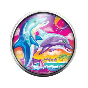Lisa Frank - 18MM Glass Dome Candy Snap Charm GD0529