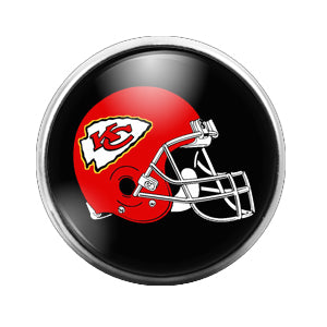 Kansas City Chiefs - 18MM Glass Dome Candy Snap Charm GD0420