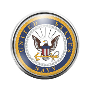 Navy - 18MM Glass Dome Candy Snap Charm GD0567