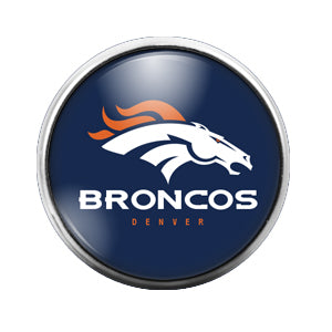 Detroit Broncos - 18MM Glass Dome Candy Snap Charm GD0414