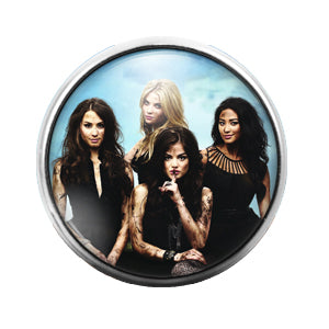 Pretty Little Liars - 18MM Glass Dome Candy Snap Charm GD0515