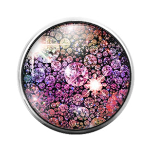 Glitter Pattern - 18MM Glass Dome Candy Snap Charm GD1494