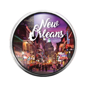 New Orleans - 18MM Glass Dome Candy Snap Charm GD0670