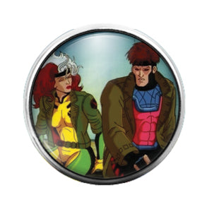 Rogue - 18MM Glass Dome Candy Snap Charm GD0748