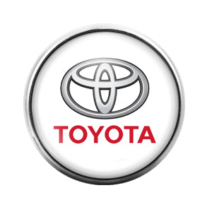 Toyota Car Logo - 18MM Glass Dome Candy Snap Charm GD0441