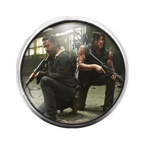 Walking Dead - 18MM Glass Dome Candy Snap Charm GD1371