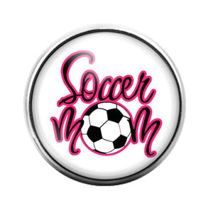 Soccer Mom- 18MM Glass Dome Candy Snap Charm GD1146