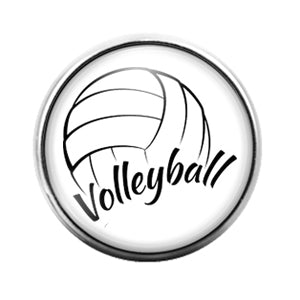 Volleyball - 18MM Glass Dome Candy Snap Charm GD0591