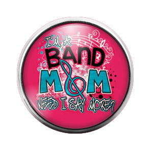 Band Mom - 18MM Glass Dome Candy Snap Charm GD0562