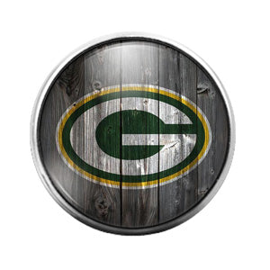 Greenbay Packers- 18MM Glass Dome Candy Snap Charm GD0922