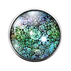 Glitter Pattern - 18MM Glass Dome Candy Snap Charm GD1495