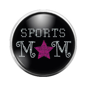 Sports Mom - 18MM Glass Dome Candy Snap Charm GD0527