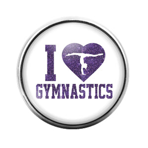 Gymnastics - 18MM Glass Dome Candy Snap Charm GD0596