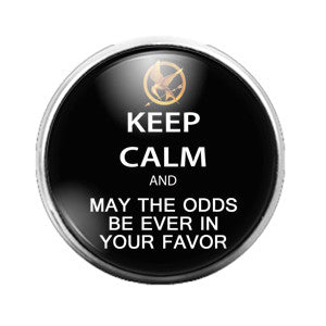 Hunger Games - 18MM Glass Dome Candy Snap Charm GD0383