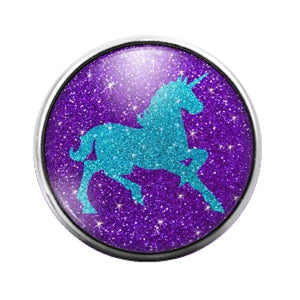 Unicorn- 18MM Glass Dome Candy Snap Charm GD0990