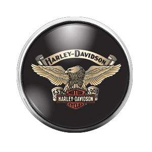 Harley Davidson - 18MM Glass Dome Candy Snap Charm GD0452