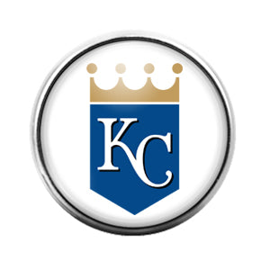 KC Royals- 18MM Glass Dome Candy Snap Charm GD1165