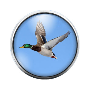 Duck - 18MM Glass Dome Candy Snap Charm GD0501