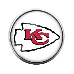Kansas City Chiefs - 18MM Glass Dome Candy Snap Charm GD0421