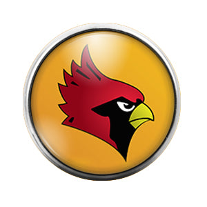 Arizona Cardinals - 18MM Glass Dome Candy Snap Charm GD0416