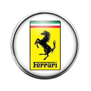 Ferarri Car Logo - 18MM Glass Dome Candy Snap Charm GD0456