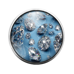 Diamond - 18MM Glass Dome Candy Snap Charm GD1503