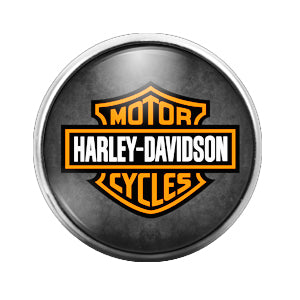 Harley Davidson - 18MM Glass Dome Candy Snap Charm GD0451