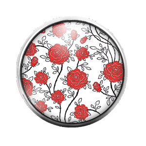 Pattern - 18MM Glass Dome Candy Snap Charm GD0541