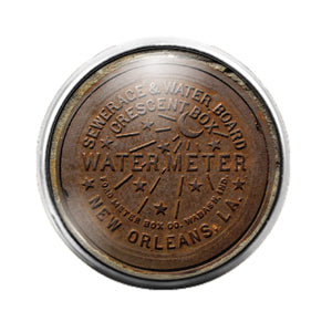 New Orleans Water Meter - 18MM Glass Dome Candy Snap Charm GD0737